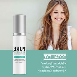 Premium Total Eye Cream Serum with Vitamin C + E, Hyaluronic