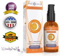 VITAMIN C SERUM for FACE & Eyes w/ Hyaluronic Acid Liquid Vi